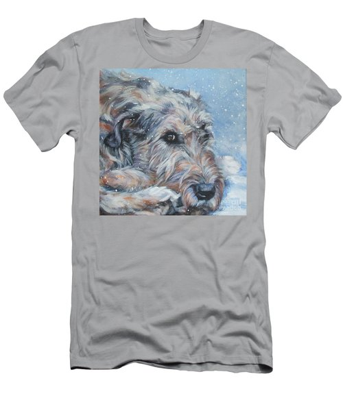 Irish Wolfhound Resting Men's T-Shirt (Slim Fit) by Lee Ann Shepard