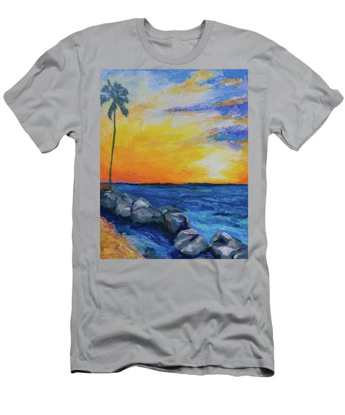 Island Time Men's T-Shirt (Slim Fit) by Stephen Anderson