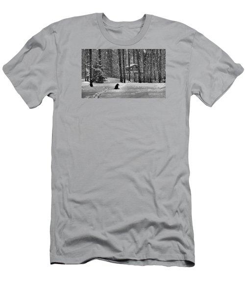 It Was A Dark And Stormy Night Men's T-Shirt (Slim Fit) by Elizabeth Dow