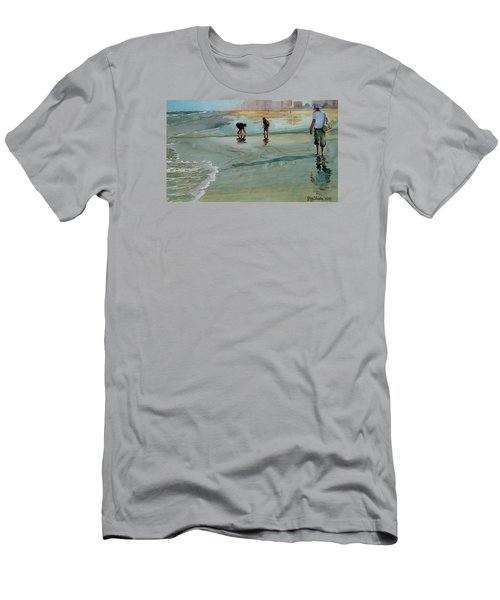 Men's T-Shirt (Slim Fit) featuring the painting Jacksonville Shell Hunt by Jeffrey S Perrine