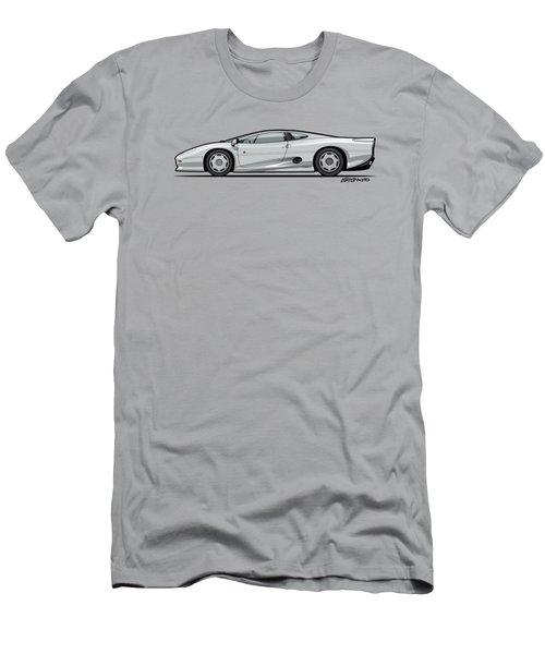 Jag Xj220 Spa Silver Men's T-Shirt (Slim Fit) by Monkey Crisis On Mars
