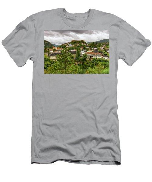 Jajce, Bosnia And Herzegovina Men's T-Shirt (Slim Fit) by Elenarts - Elena Duvernay photo