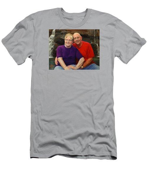 James And Judy Ballard Men's T-Shirt (Slim Fit) by Glenn Beasley