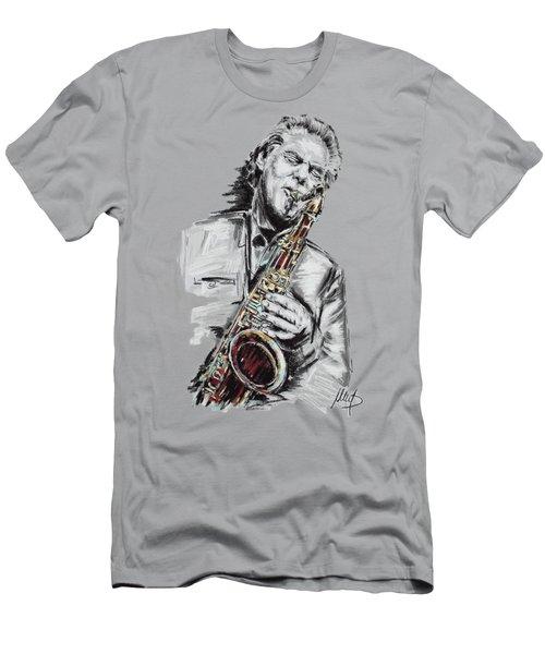 Jan Garbarek Men's T-Shirt (Slim Fit) by Melanie D