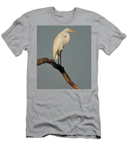 Men's T-Shirt (Slim Fit) featuring the photograph January Egret by Peg Toliver