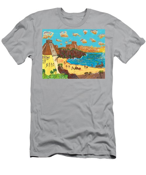 January Pyramid By The Bay Men's T-Shirt (Athletic Fit)