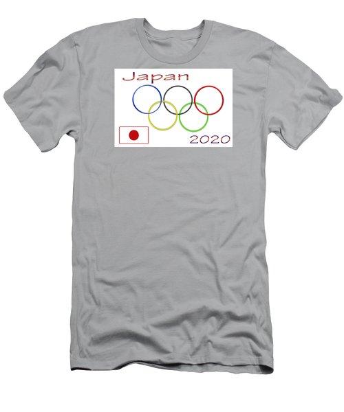 Japan Olympics 2020 Logo 3 Of 3 Men's T-Shirt (Slim Fit) by Tina M Wenger
