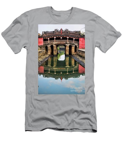 Japanese Bridge  Hoi An Men's T-Shirt (Slim Fit) by Chuck Kuhn