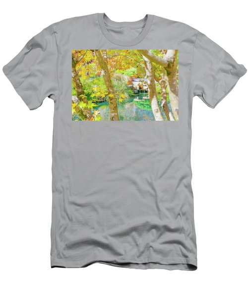 Japanese Garden Pond Men's T-Shirt (Athletic Fit)