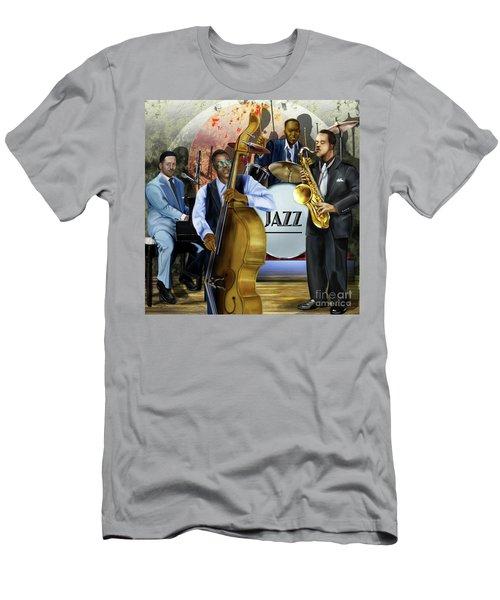 Jazz Jazz Jazz Men's T-Shirt (Athletic Fit)