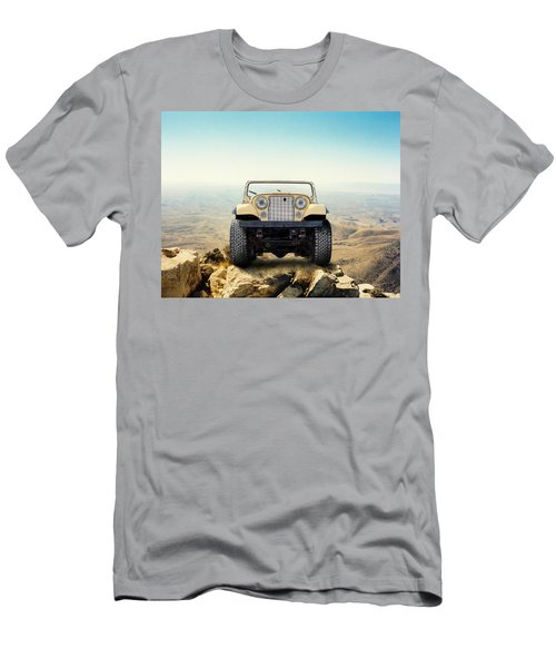 Jeep On Mountain Men's T-Shirt (Athletic Fit)
