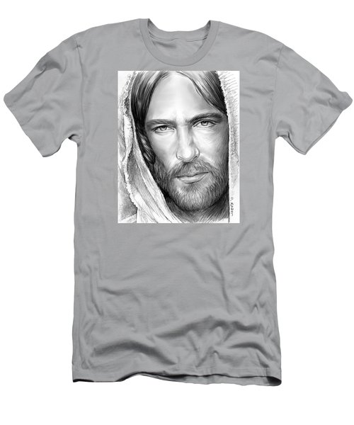 Jesus Face Men's T-Shirt (Slim Fit) by Greg Joens