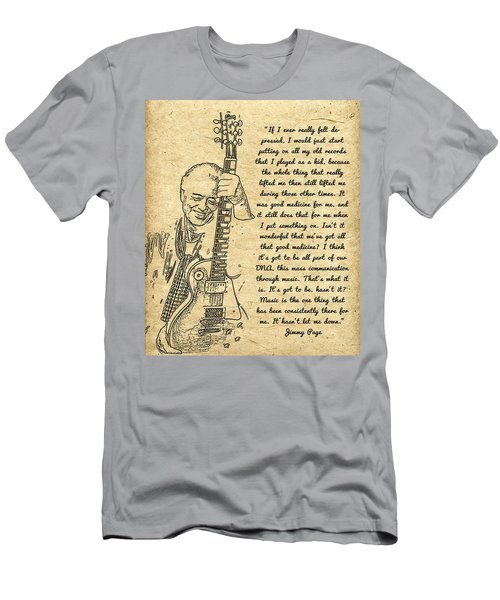 Jimmy Page Quote Men's T-Shirt (Athletic Fit)
