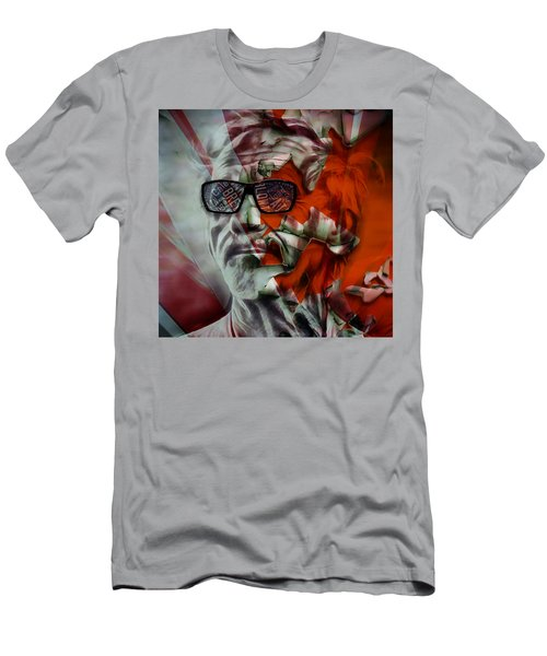 Men's T-Shirt (Athletic Fit) featuring the mixed media Jj Cale The Call Me The Breeze by Marvin Blaine