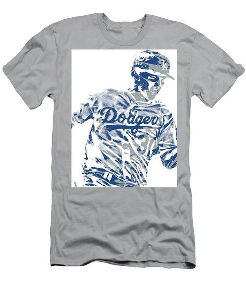 Joc Pederson Los Angeles Dodgers Pixel Art 10 Men's T-Shirt (Athletic Fit)