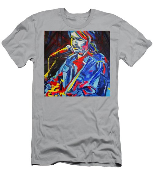 Men's T-Shirt (Slim Fit) featuring the painting John Prine #3 by Eric Dee