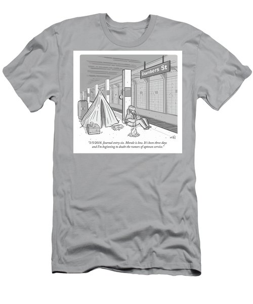 Journal Entry Six Morale Is Low Men's T-Shirt (Athletic Fit)