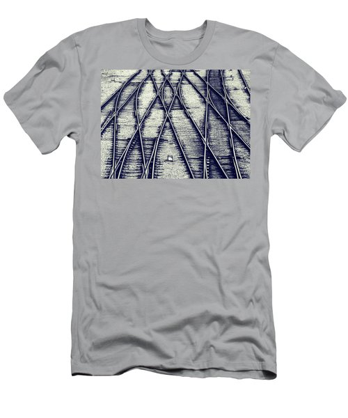 Men's T-Shirt (Slim Fit) featuring the photograph Journey Marks by Wayne Sherriff