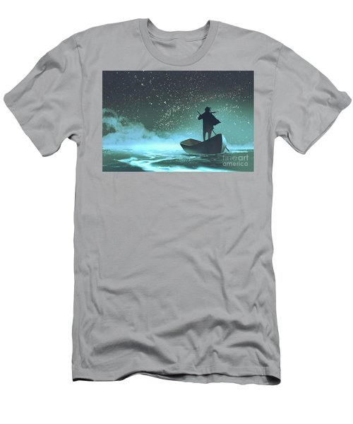Men's T-Shirt (Athletic Fit) featuring the painting Journey To The New World by Tithi Luadthong