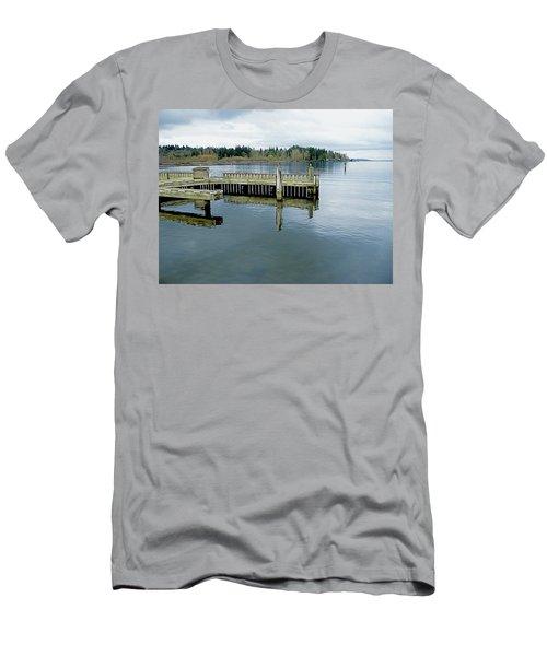 Juanita Bay In Gray Men's T-Shirt (Athletic Fit)
