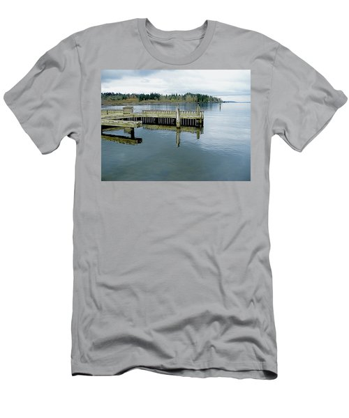 Juanita Bay In Gray Men's T-Shirt (Athletic Fit)
