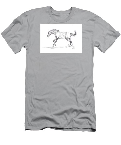 Jumping Around Men's T-Shirt (Slim Fit) by Kate Black