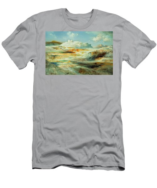 Jupiter Terrace  Yellowstone Men's T-Shirt (Athletic Fit)