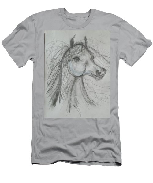 Men's T-Shirt (Slim Fit) featuring the drawing Just Free by Sharyn Winters