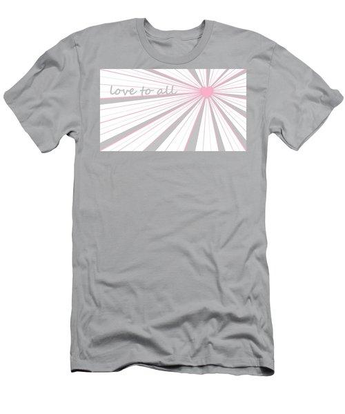Just Hearts 5 Men's T-Shirt (Slim Fit) by Linda Velasquez