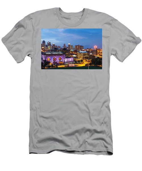 Kansas City Night Sky Men's T-Shirt (Athletic Fit)