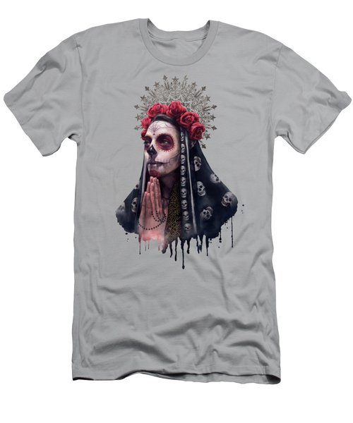 Katrina - The Skull Girl Men's T-Shirt (Athletic Fit)