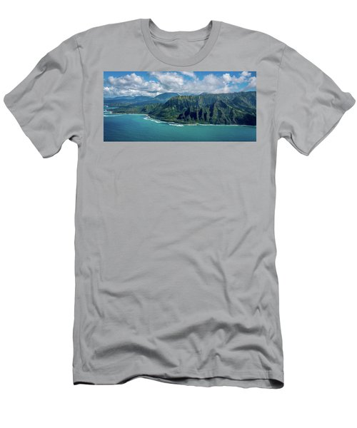 Kawaii Na Pali Coast  Men's T-Shirt (Athletic Fit)