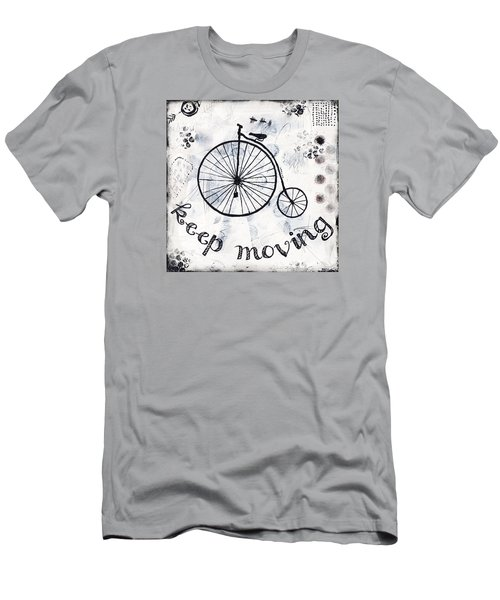 Men's T-Shirt (Slim Fit) featuring the mixed media Keep Moving Forward by Stanka Vukelic