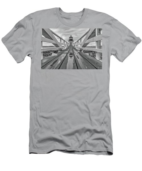 Men's T-Shirt (Slim Fit) featuring the photograph Keeper's Walkway At Marshall Point by Rick Berk