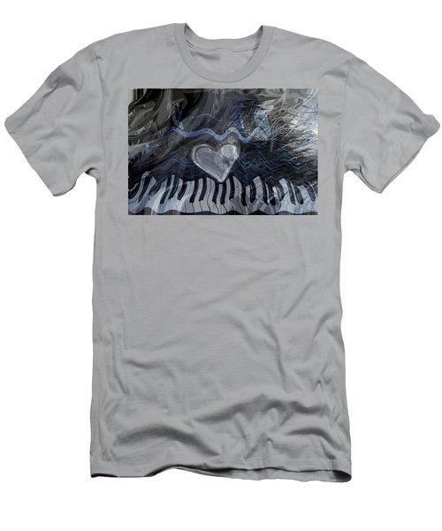 Men's T-Shirt (Slim Fit) featuring the digital art Key Waves by Linda Sannuti
