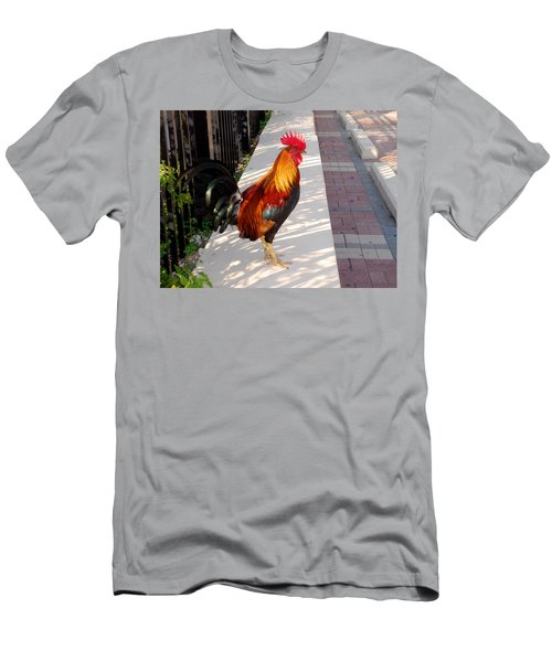 Key West Rooster Men's T-Shirt (Athletic Fit)