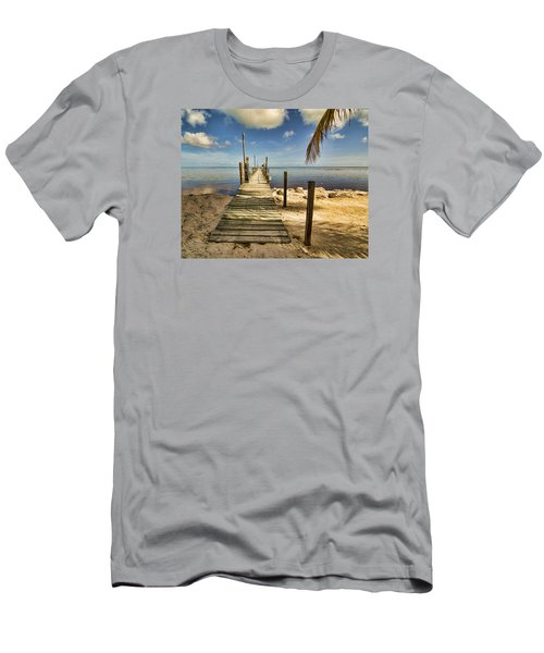 Men's T-Shirt (Slim Fit) featuring the photograph Keys Dock by Don Durfee