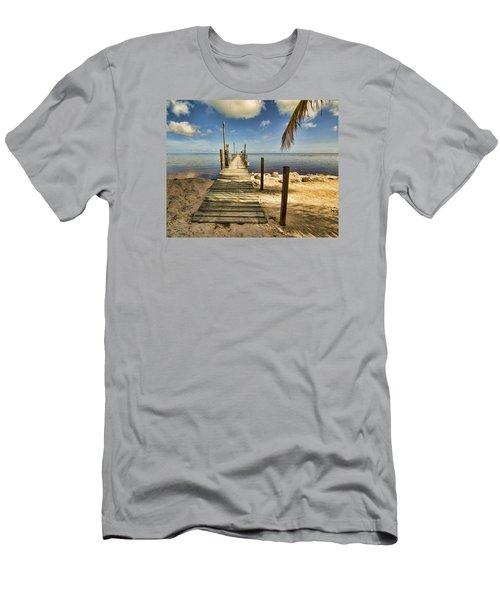 Keys Dock Men's T-Shirt (Slim Fit) by Don Durfee