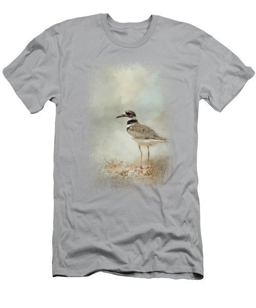 Killdeer On The Rocks Men's T-Shirt (Slim Fit) by Jai Johnson