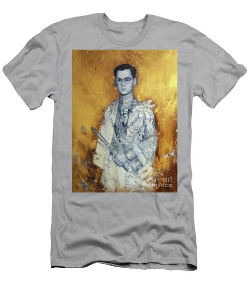 Men's T-Shirt (Slim Fit) featuring the painting King Phumiphol by Chonkhet Phanwichien
