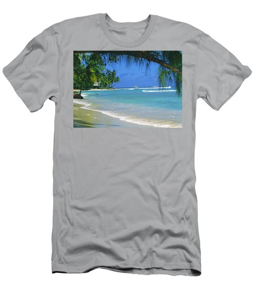 King's Beach, Barbados Men's T-Shirt (Athletic Fit)