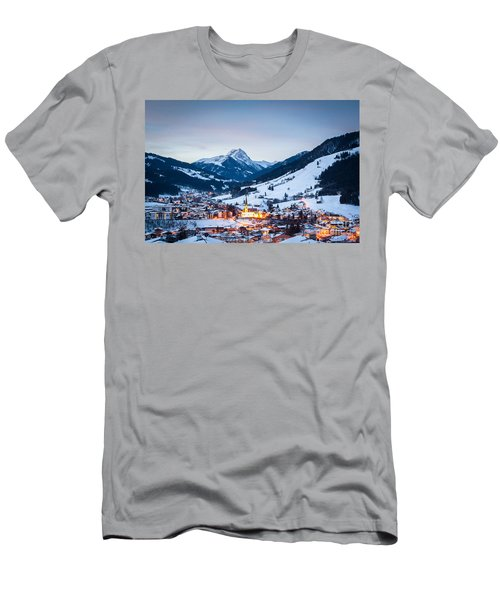 Men's T-Shirt (Athletic Fit) featuring the photograph Kirchberg Austria In The Evening by John Wadleigh