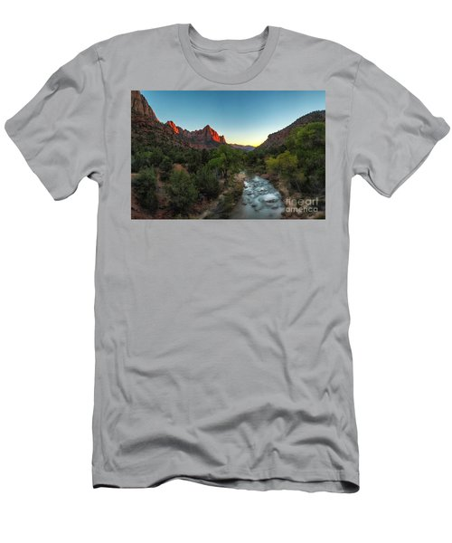 Men's T-Shirt (Athletic Fit) featuring the photograph Kiss Of Light by Bitter Buffalo Photography