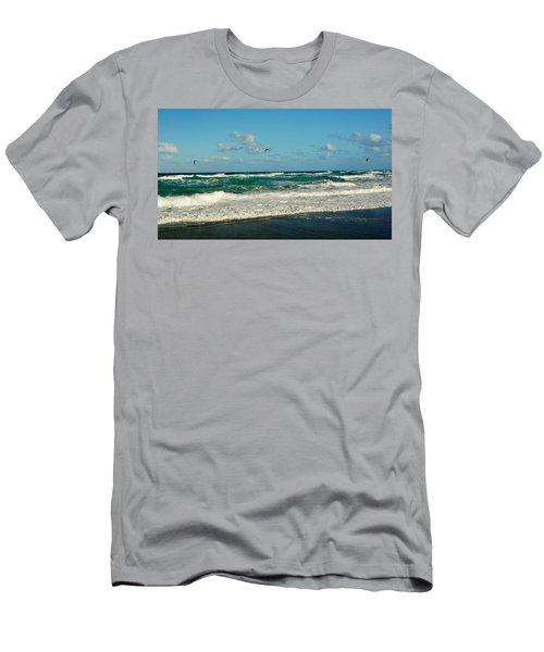 Kite Surfing Men's T-Shirt (Slim Fit) by John Wartman