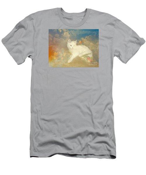 Kitty Art Precious By Sherriofpalmsprings Men's T-Shirt (Slim Fit) by Sherri's Of Palm Springs