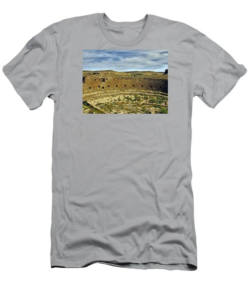 Men's T-Shirt (Slim Fit) featuring the photograph Kiva View Chaco Canyon by Kurt Van Wagner