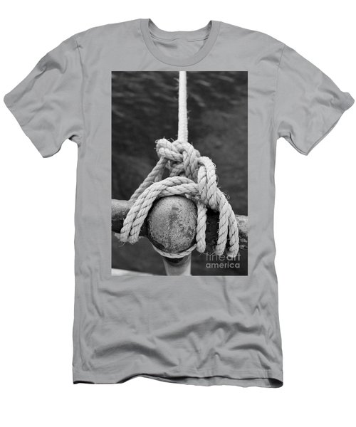 Men's T-Shirt (Slim Fit) featuring the photograph Knot On My Warf Iv by Stephen Mitchell
