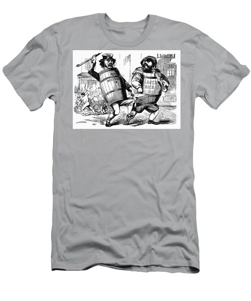 Men's T-Shirt (Athletic Fit) featuring the drawing Know Nothing Cartoon, C1850 by Granger
