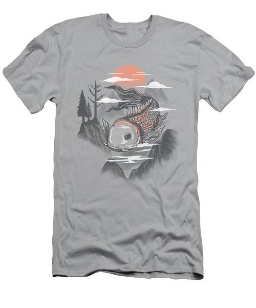koi Men's T-Shirt (Slim Fit) by Anggrahito Pramono
