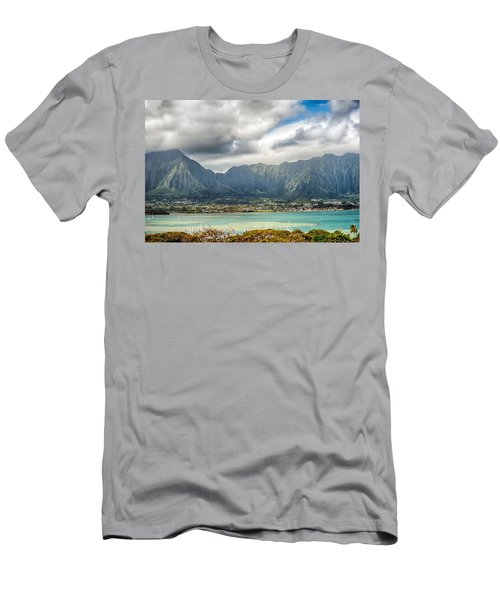 Ko'olau And H-3 In Color Men's T-Shirt (Athletic Fit)